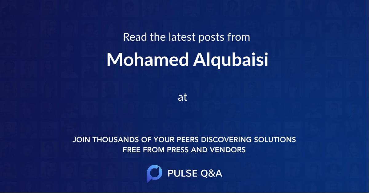 Mohamed Alqubaisi