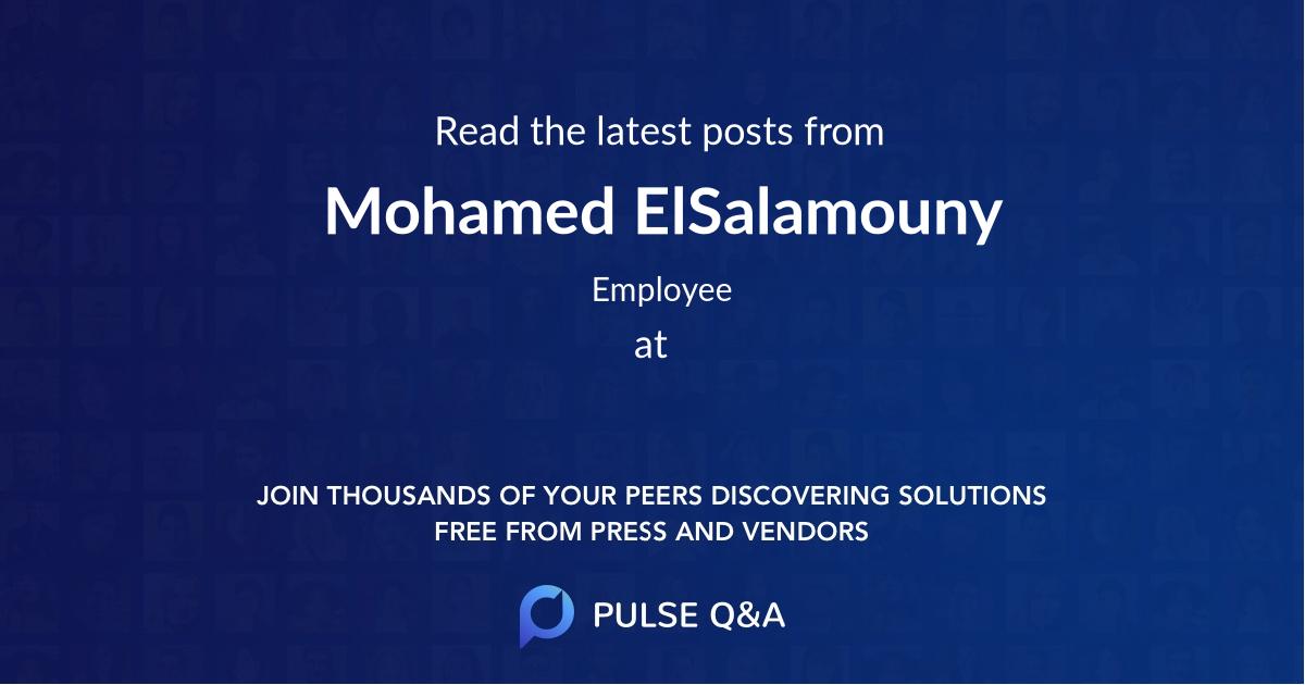 Mohamed ElSalamouny