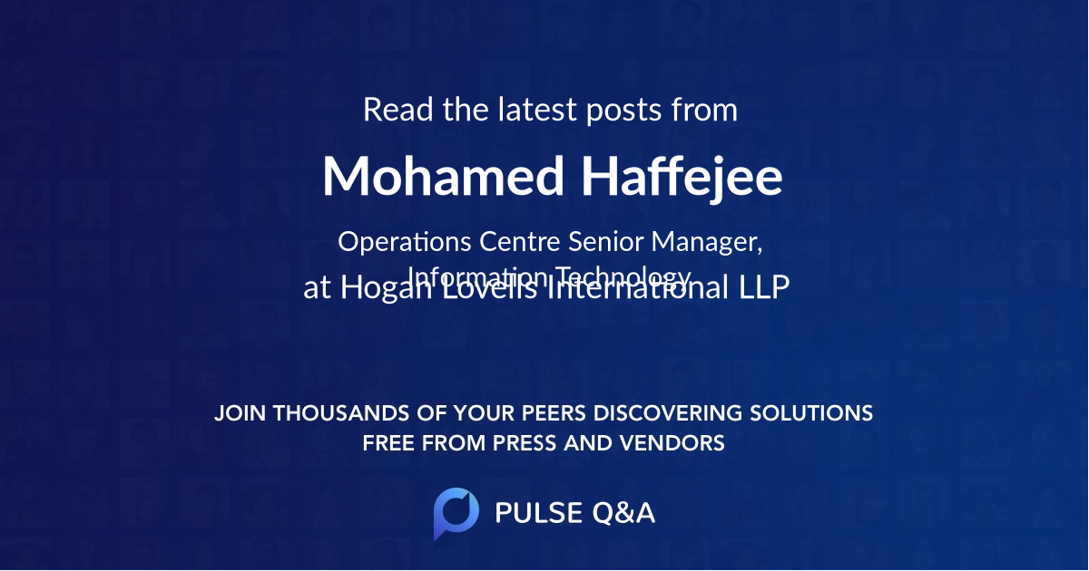 Mohamed Haffejee