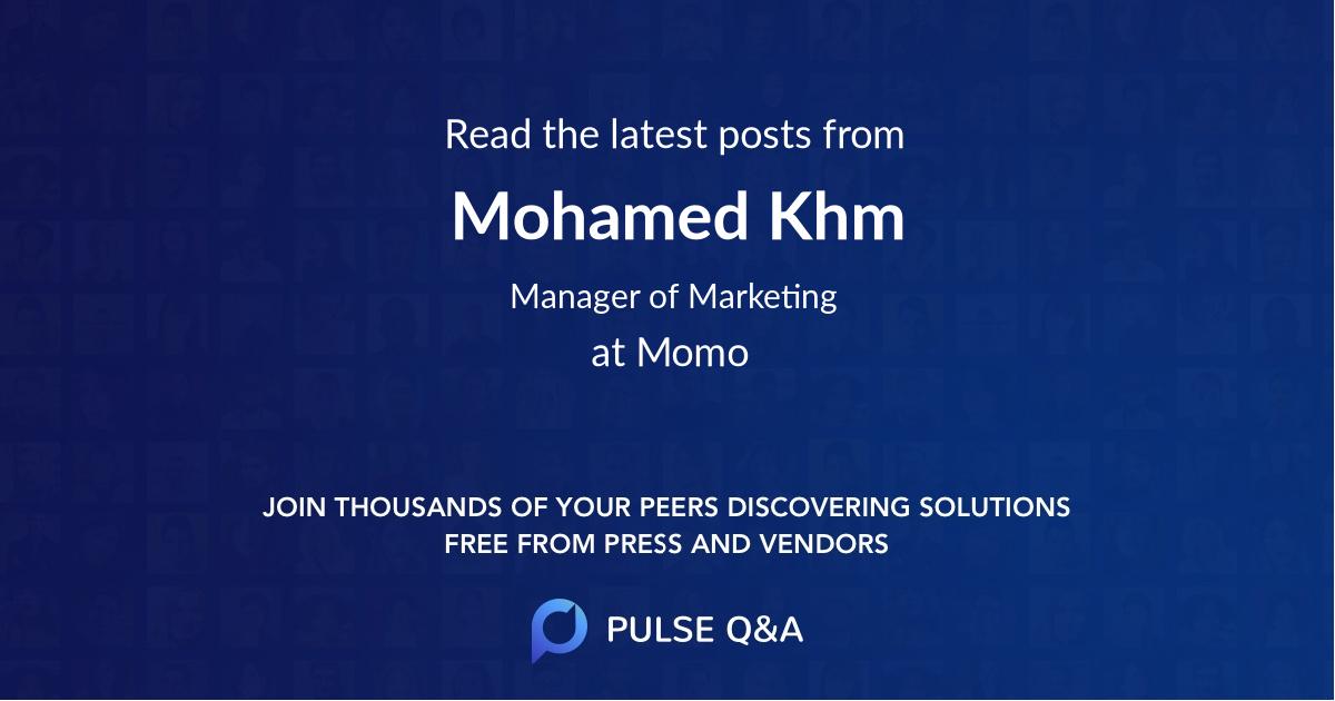 Mohamed Khm