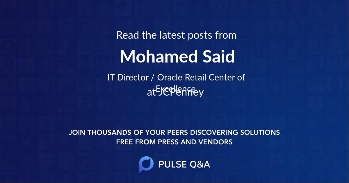 Mohamed Said