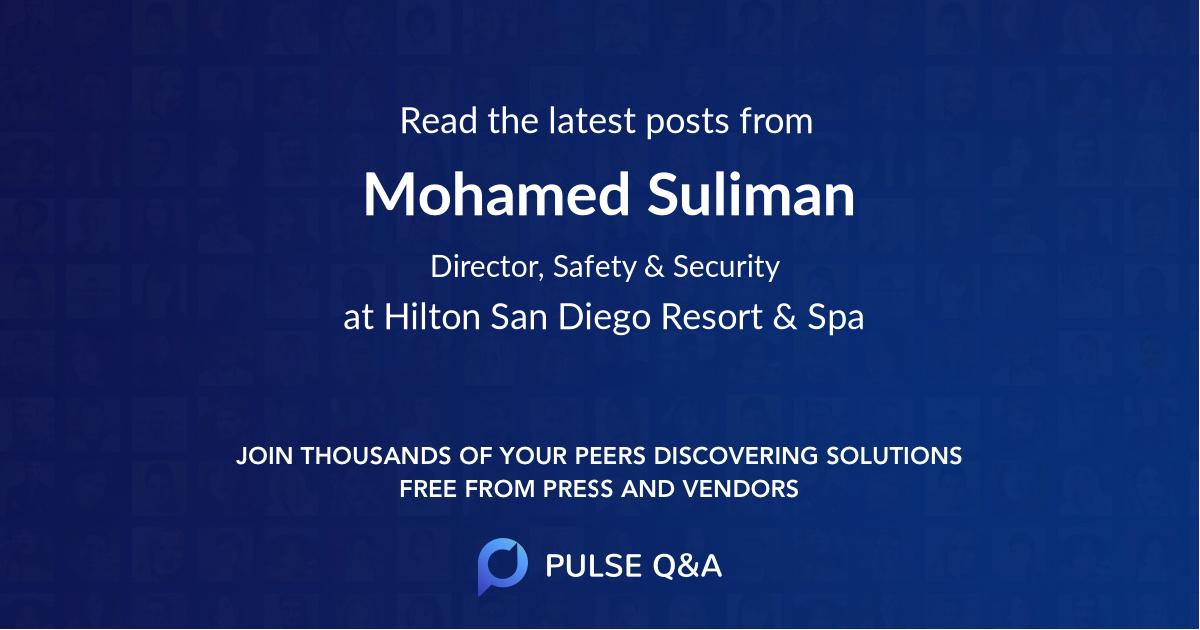 Mohamed Suliman