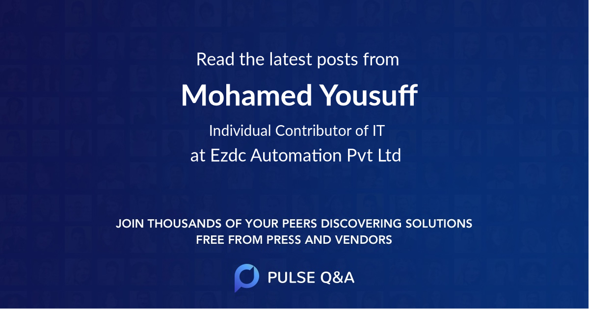 Mohamed Yousuff