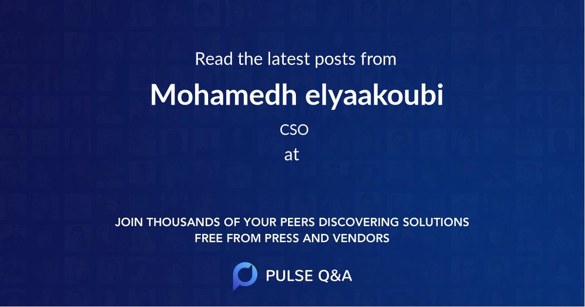 Mohamedh elyaakoubi