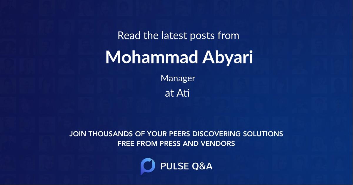 Mohammad Abyari