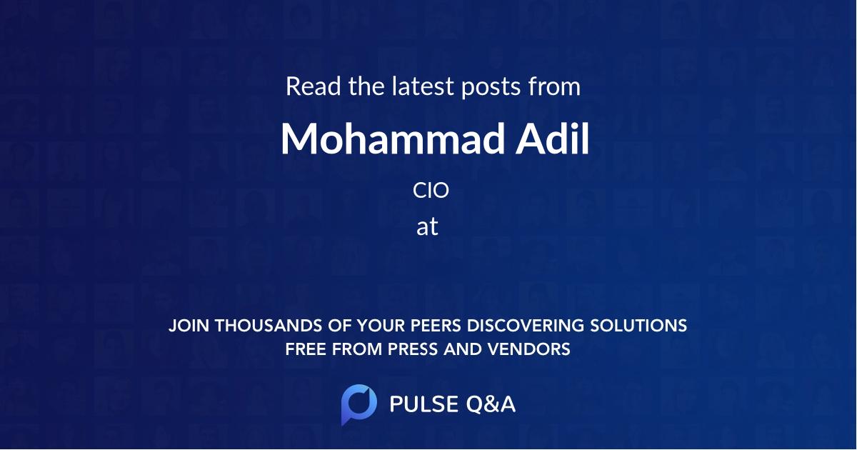 Mohammad Adil