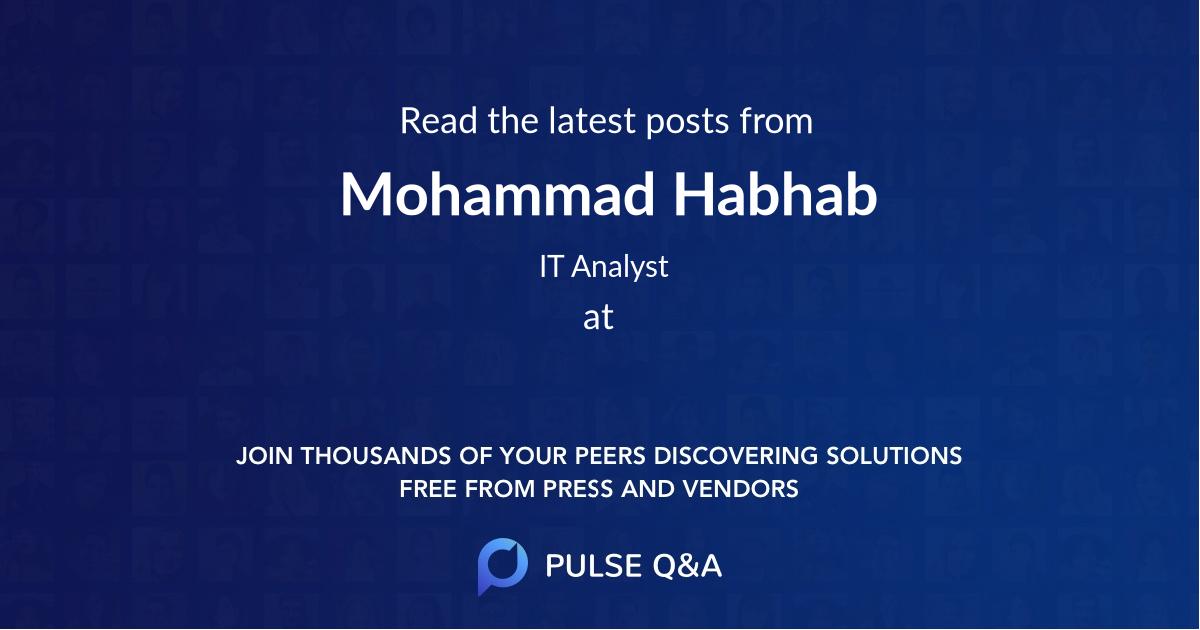 Mohammad Habhab