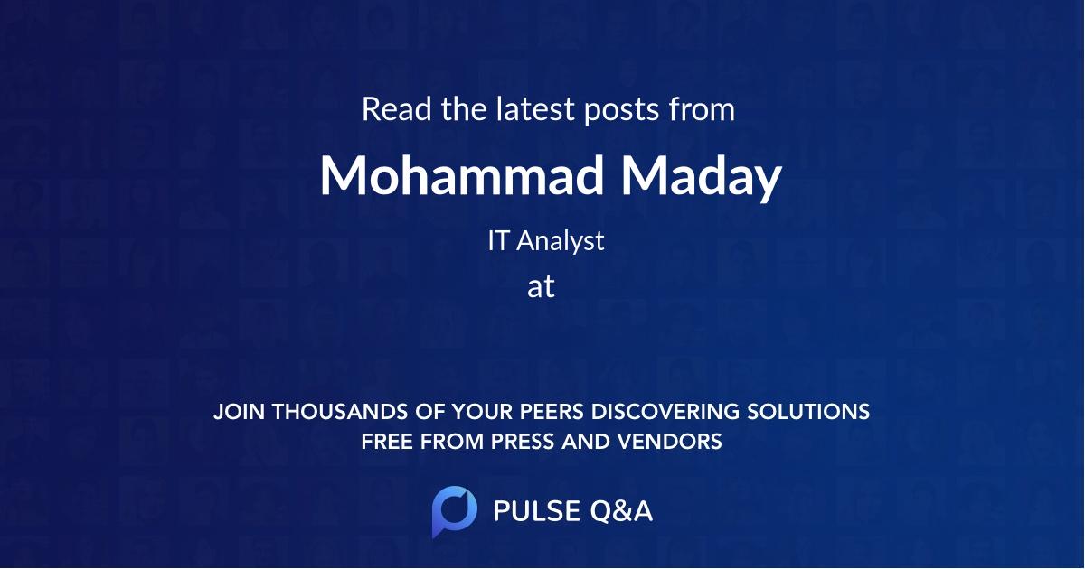 Mohammad Maday
