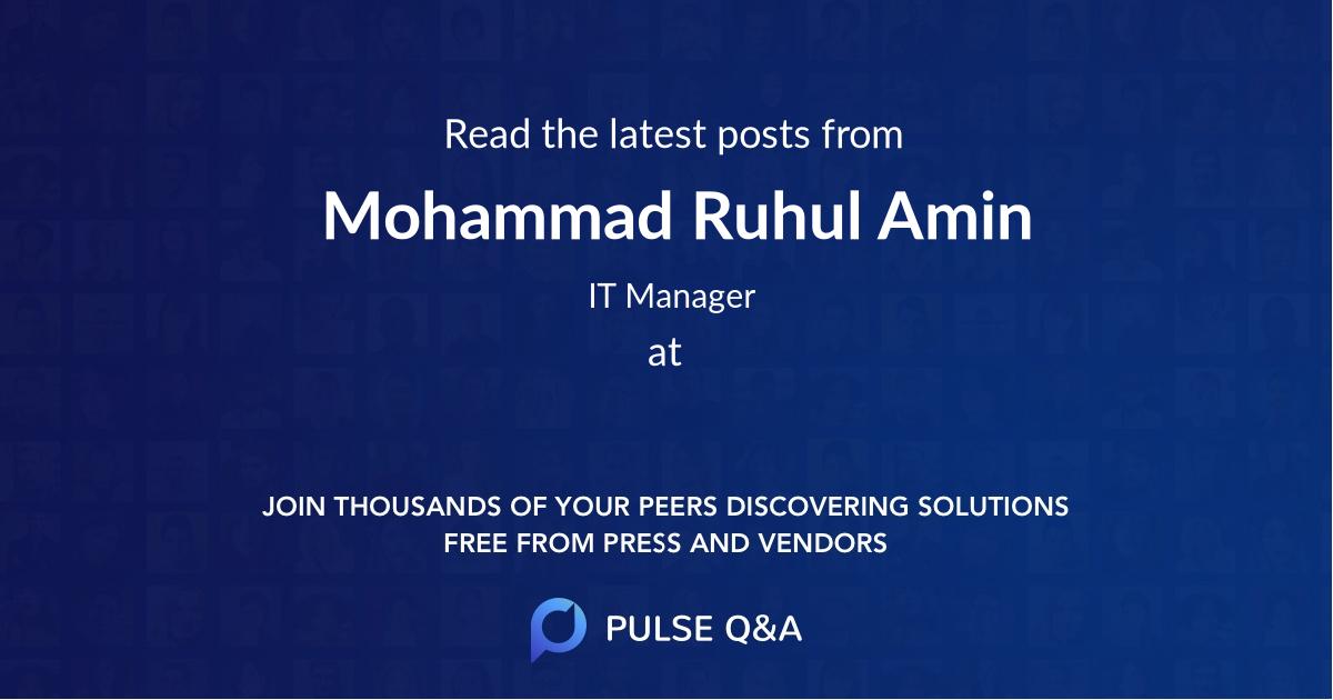Mohammad Ruhul Amin