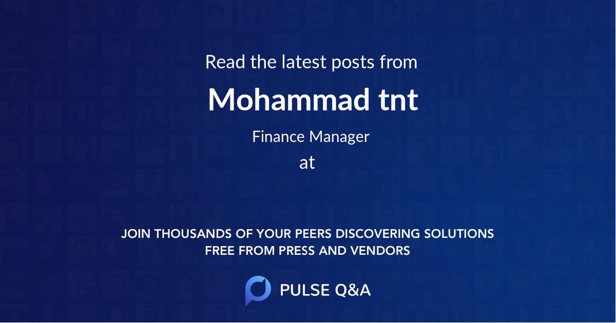 Mohammad tnt