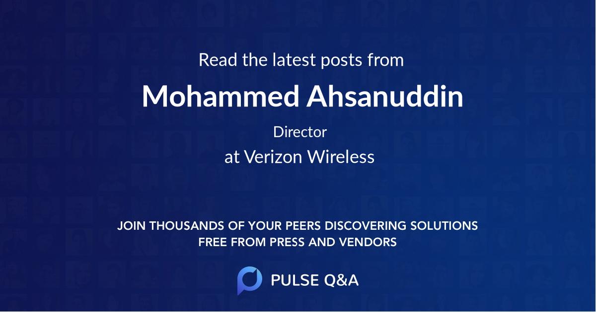 Mohammed Ahsanuddin