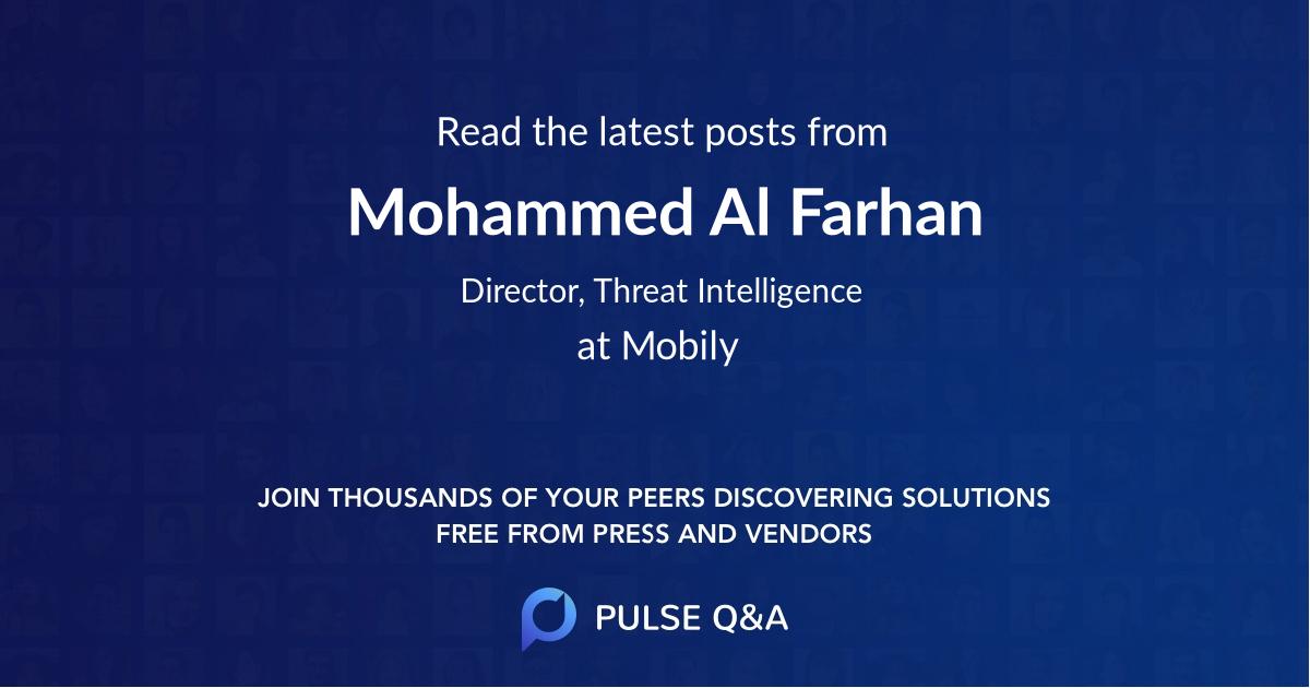Mohammed Al Farhan