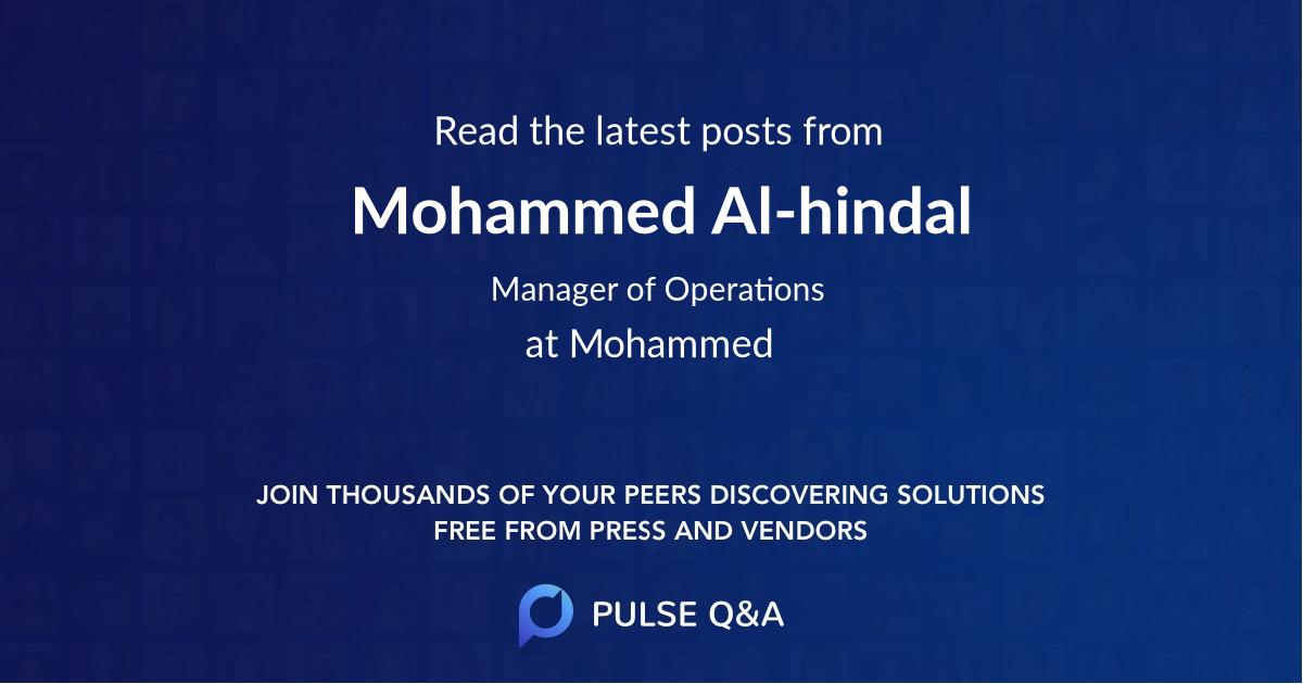 Mohammed Al-hindal