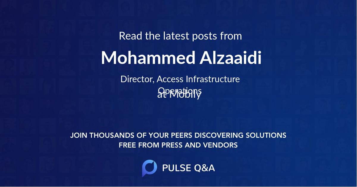 Mohammed Alzaaidi