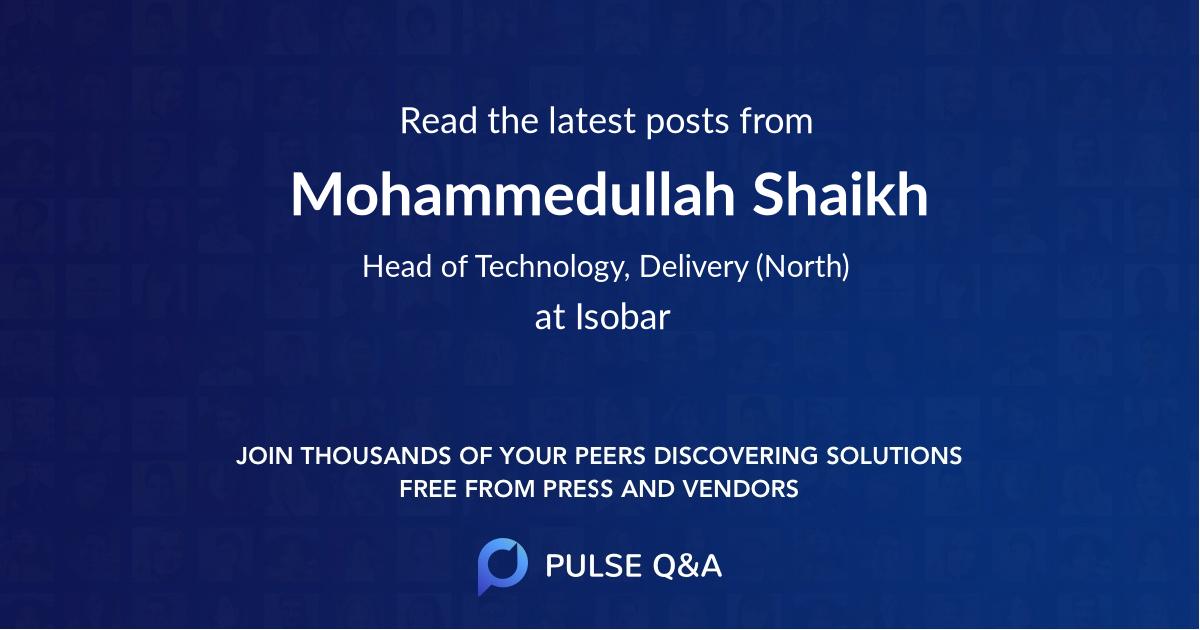 Mohammedullah Shaikh