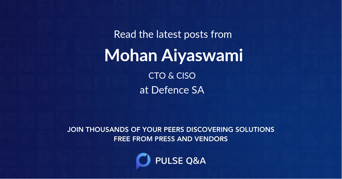 Mohan Aiyaswami