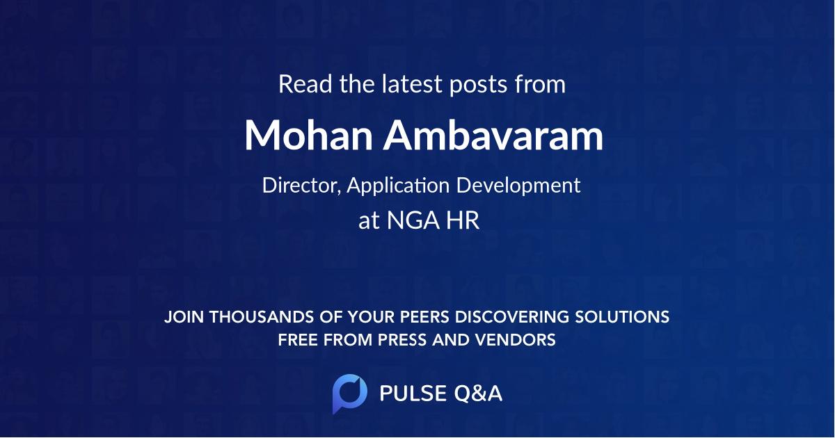 Mohan Ambavaram