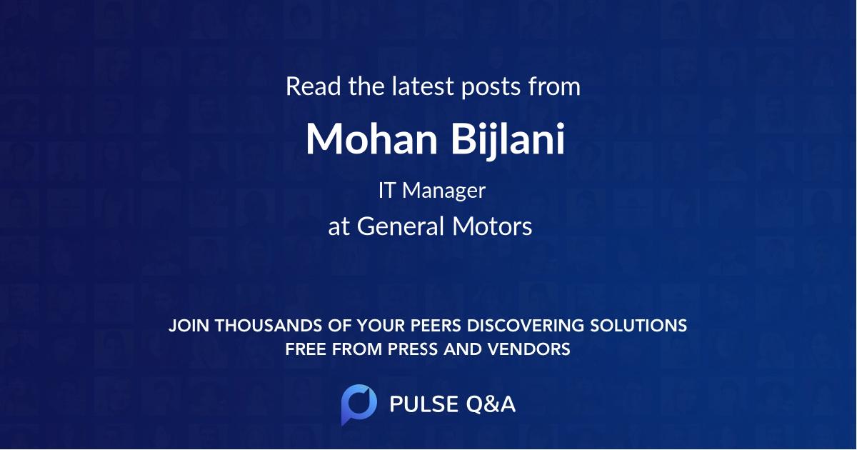 Mohan Bijlani