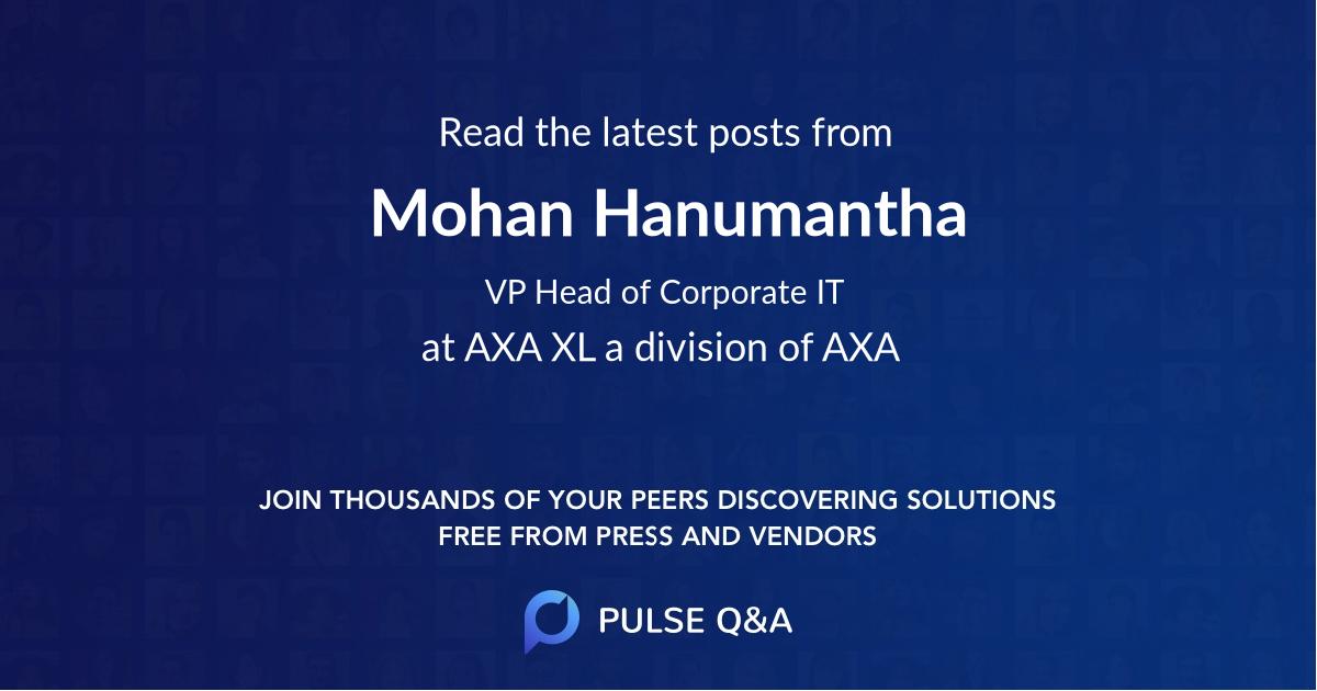 Mohan Hanumantha