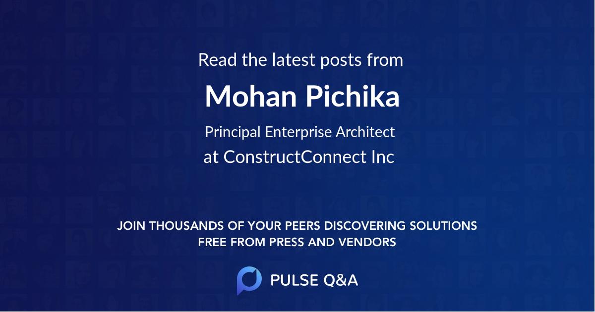 Mohan Pichika