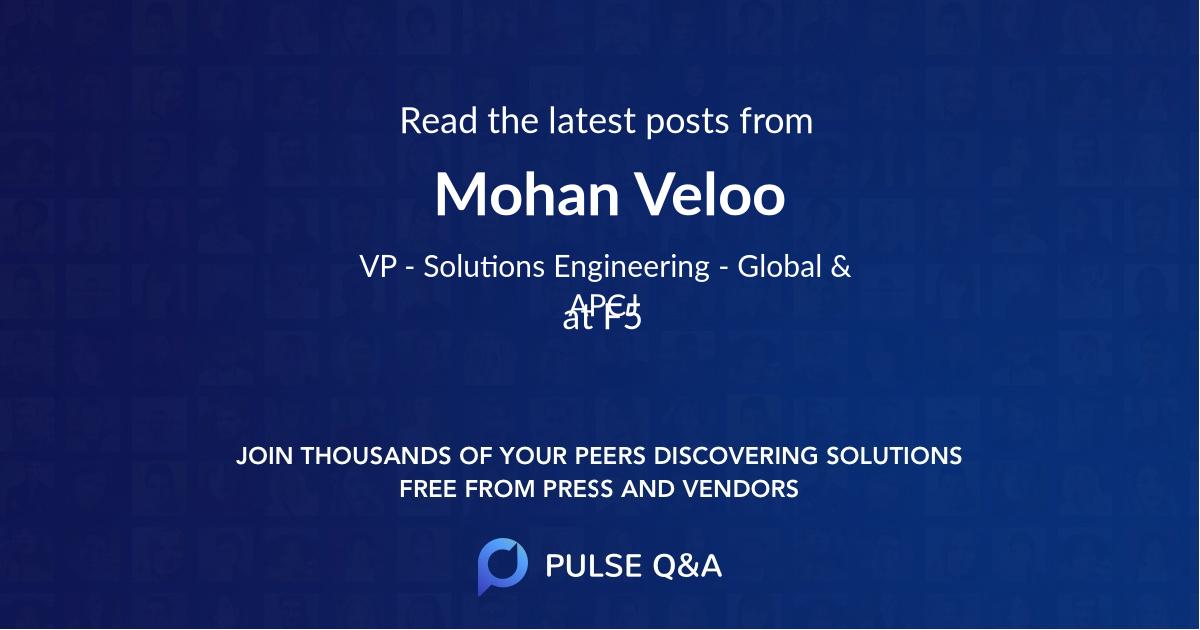 Mohan Veloo