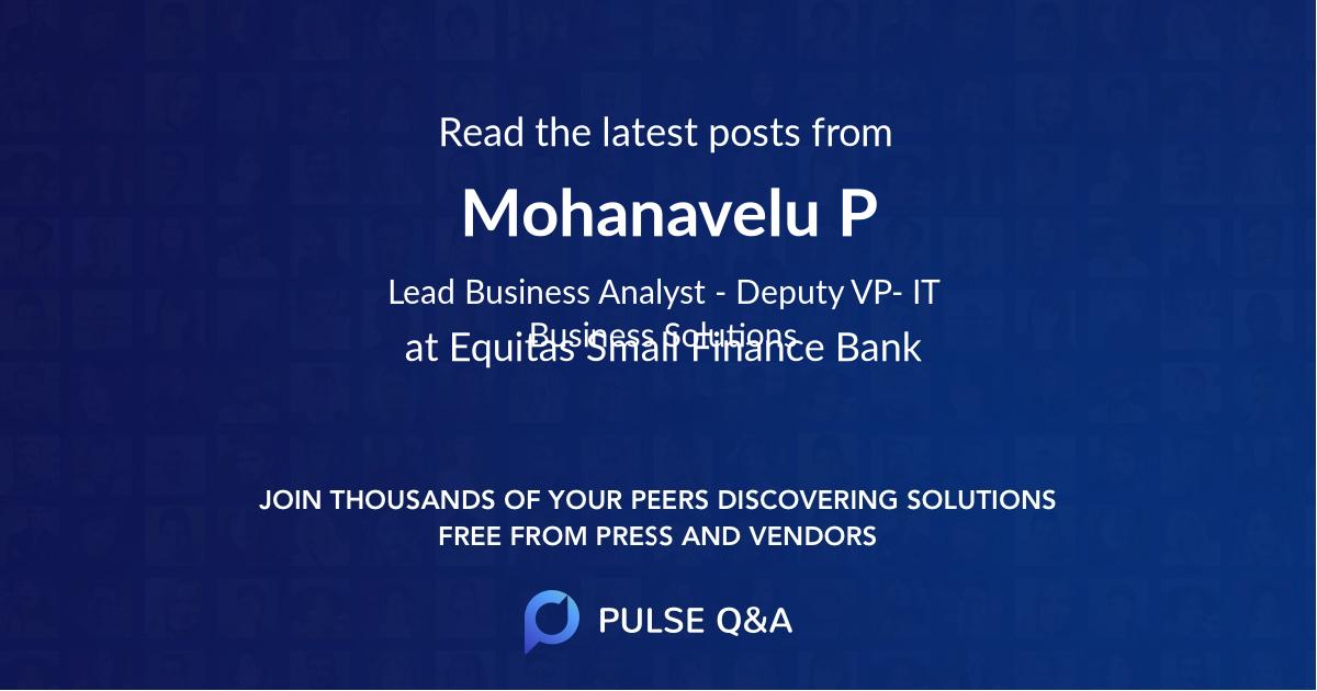 Mohanavelu P