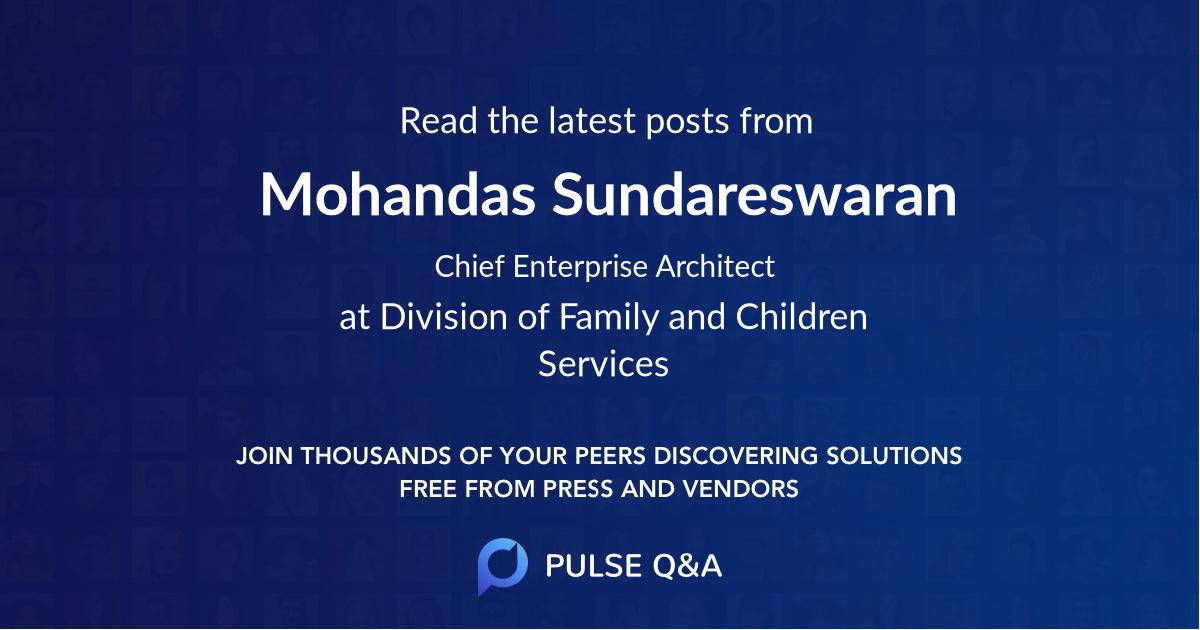 Mohandas Sundareswaran