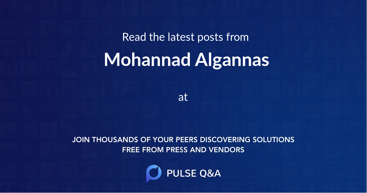 Mohannad Algannas