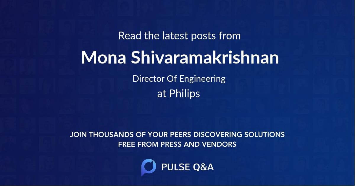 Mona Shivaramakrishnan