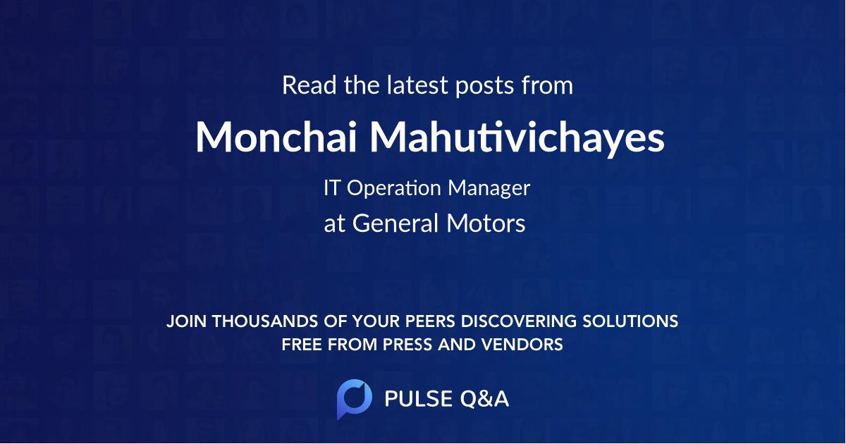 Monchai Mahutivichayes