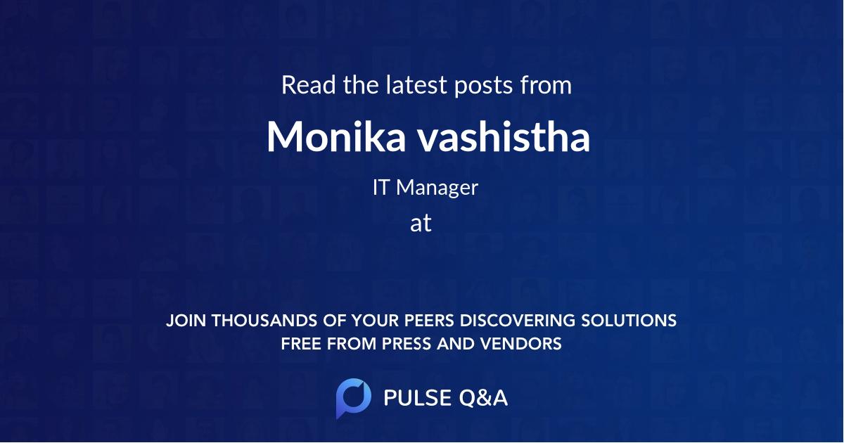 Monika vashistha