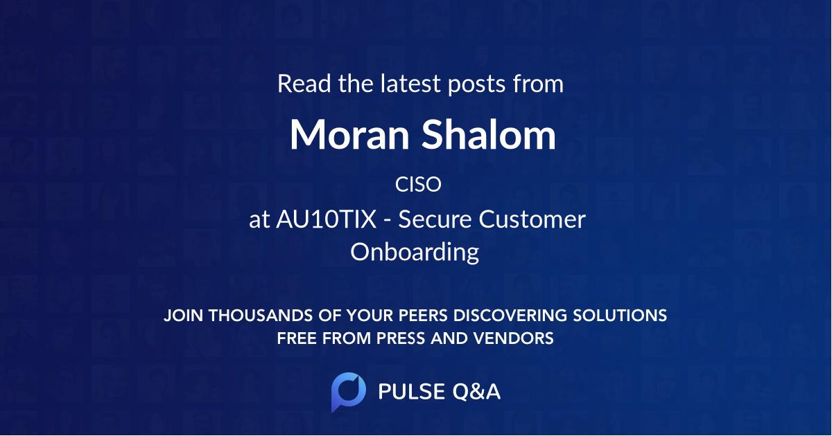 Moran Shalom