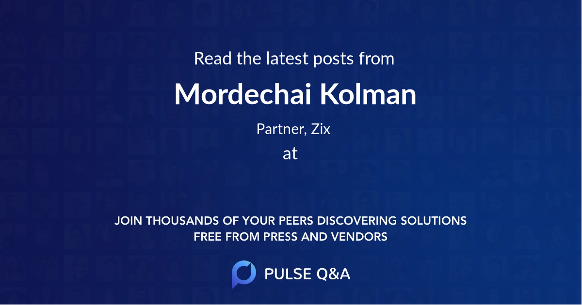 Mordechai Kolman