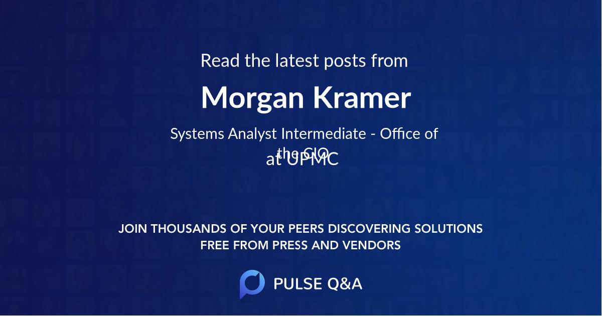 Morgan Kramer