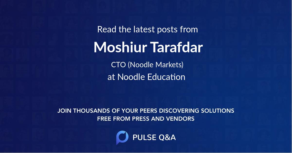 Moshiur Tarafdar