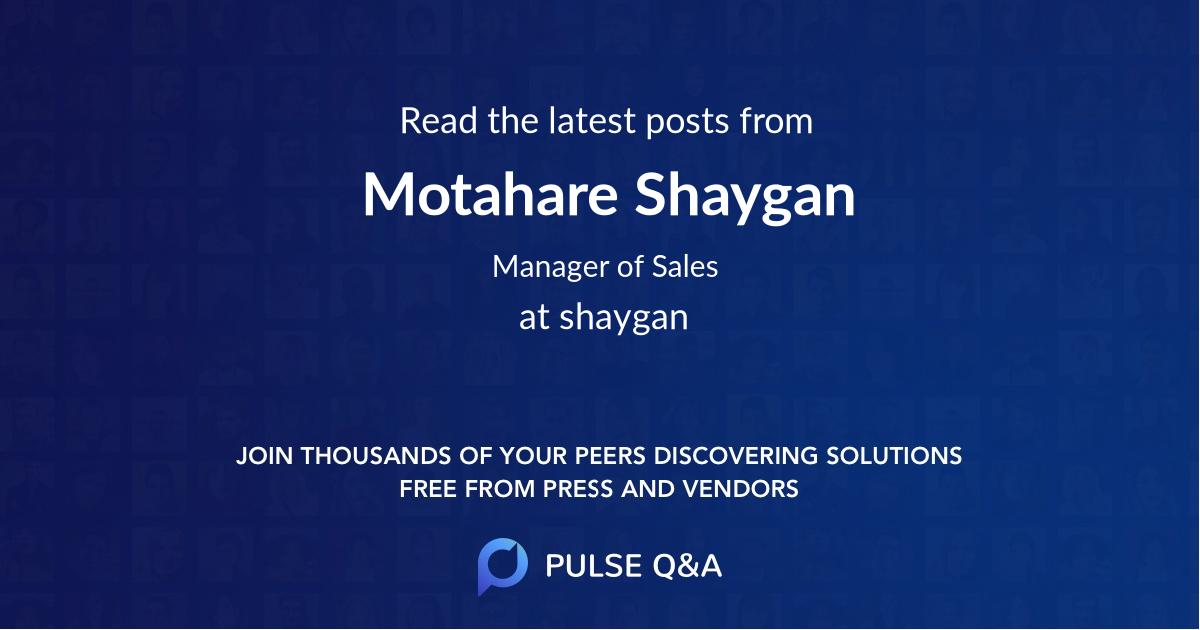 Motahare Shaygan
