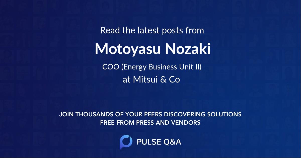 Motoyasu Nozaki