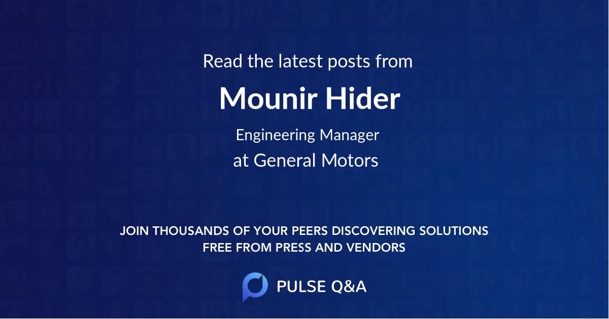 Mounir Hider