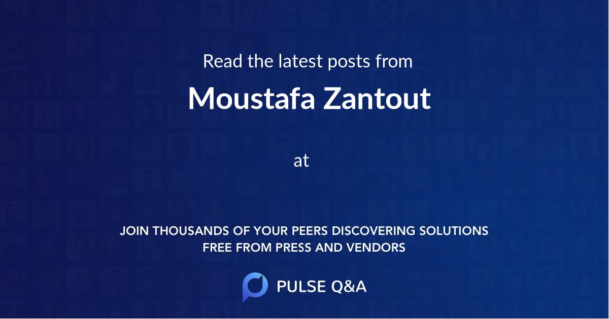 Moustafa Zantout