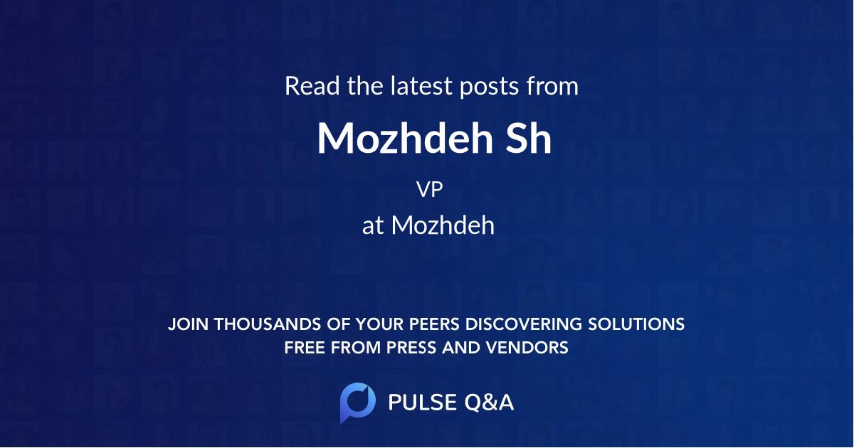 Mozhdeh Sh
