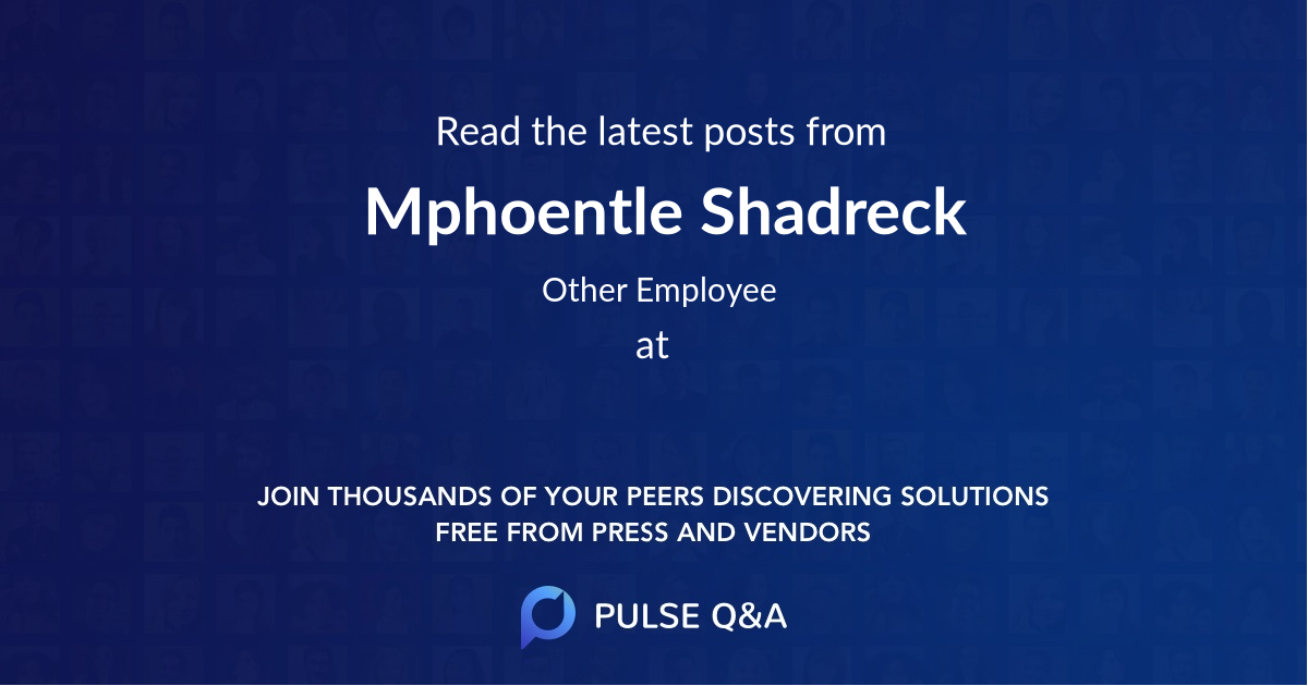 Mphoentle Shadreck