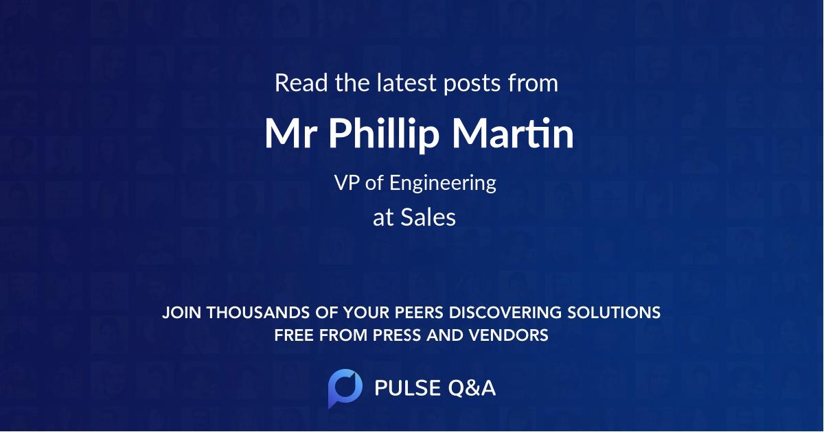 Mr Phillip Martin