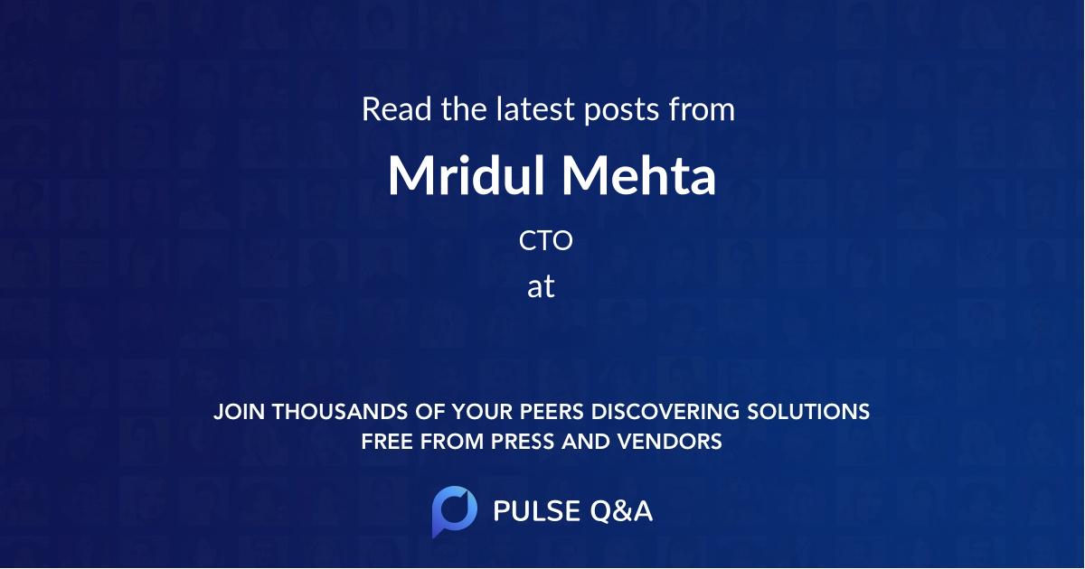Mridul Mehta