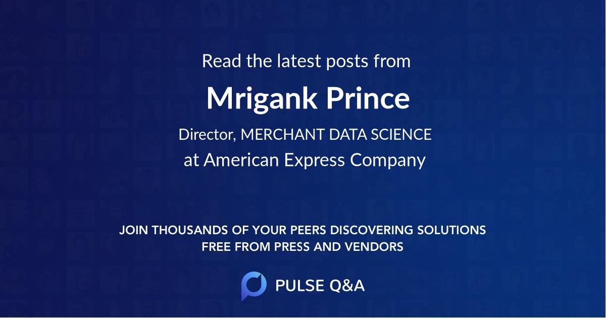 Mrigank Prince