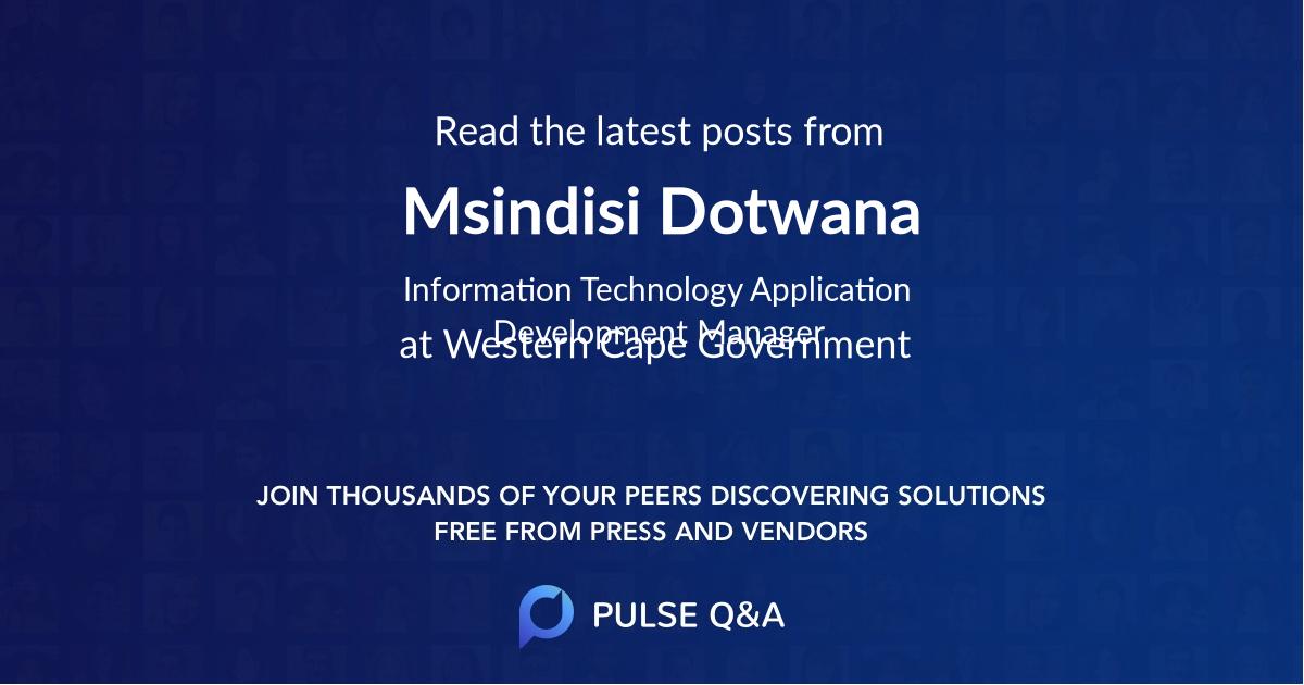 Msindisi Dotwana