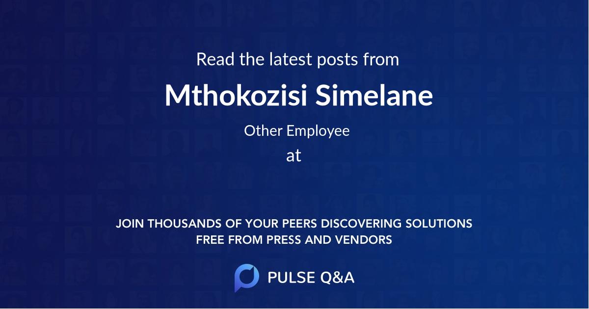 Mthokozisi Simelane