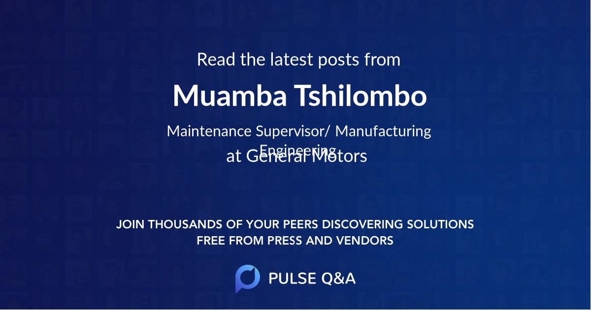 Muamba Tshilombo