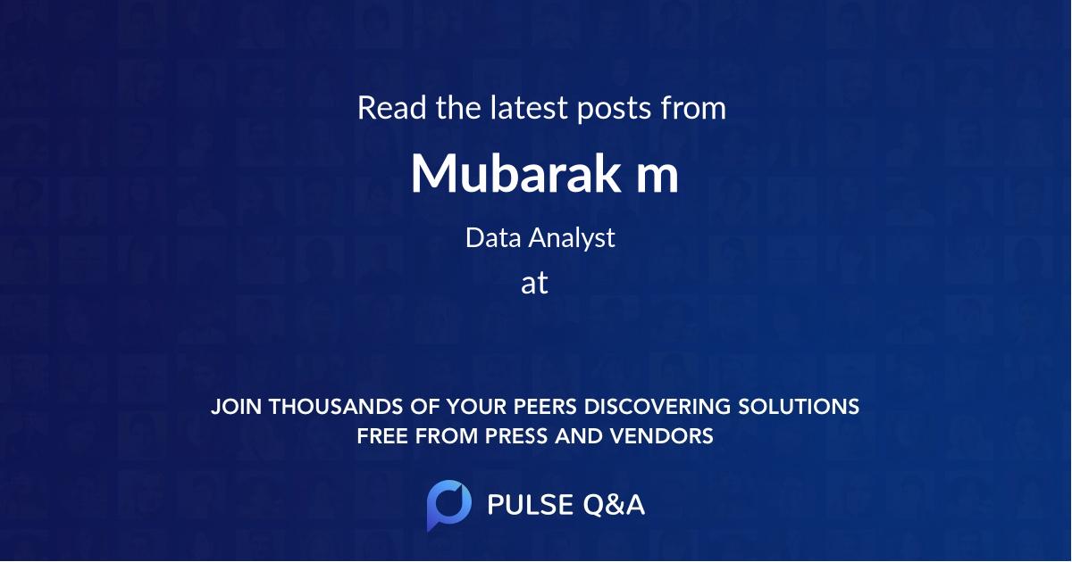 Mubarak m