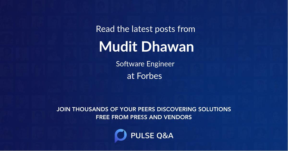 Mudit Dhawan