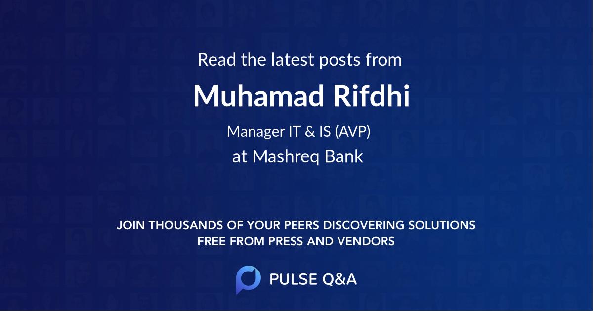 Muhamad Rifdhi